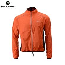ROCKBROS куртка для бега ветрозащитный жилет для велоспорта Спортивный Плащ Джерси для пешего туризма непромокаемая УФ-защита быстросохнущее пальто зимнее для мужчин