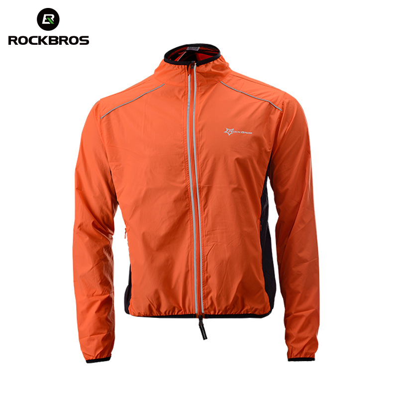 ROCKBROS Running Jacket Windproof Vest Cycling Sports Raincoat Jersey Hiking Rainproof UV Protection Quick Dry Coat Winter Men muñeco buffon