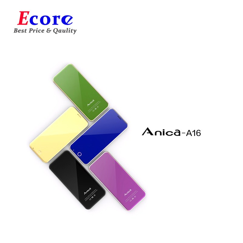 Liberaal Originele Anica A16 Mini Mobiele Telefoon Ultradunne Luxe Telefoon Met Mp3 Speler Bluetooth 1.63 Inch Credit Card Mobiele Telefoon