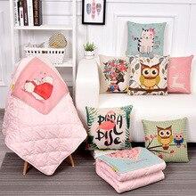 Cartoon animal cotton printing multifunctional pillow quilt Automotive office nylon customization