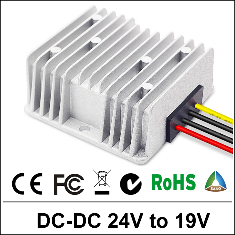 <font><b>24V</b></font> <font><b>to</b></font> <font><b>19V</b></font> 5A-15A 120W <font><b>DC</b></font> <font><b>DC</b></font> Boost <font><b>Converter</b></font> Step-down Waterproof Control Car Module Power Supply 24Volt <font><b>to</b></font> 15Amp image