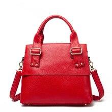 Women genuine leather handbag luxury 2017 high quality casual tote bag ladies office work bags handbags famous brands sac a main