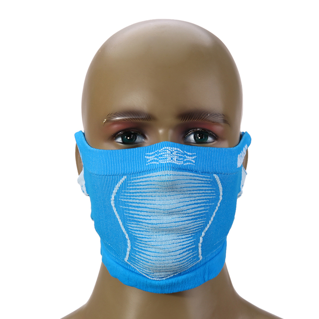 Mask Warm Ski Portable Bike Bicycle Cycling Running Winter Anti Cold Sports Half Face Neck Mask With Ear Hole For Men/Women Blue