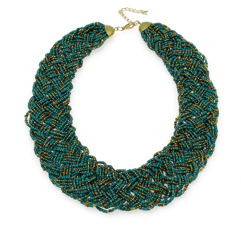 UKEN Fashion Accessories Women Collares Jewelry Hand Made Weave Beads Chain Statement Chokers Necklaces Colliers Femmes