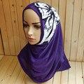 Mu199 negras de Lentejuelas Rebordear al por mayor Hiyab Musulmán Dama DAD 10 Unids por porción de La Manera Islámica Mujeres Caps Mix colors No Saudita Sombreros de Ala