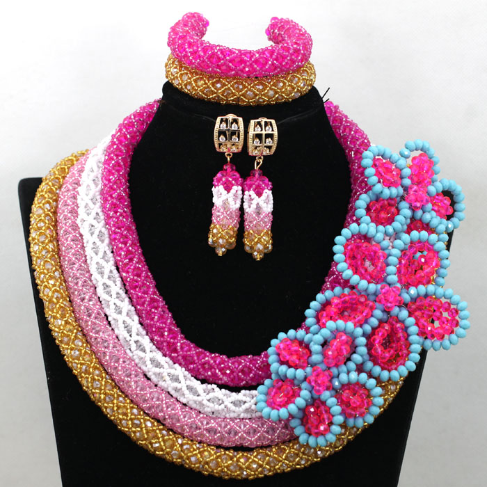 Gorgeous 4 Layers Indian Bridal Jewelry Sets Nigerian Wedding Women Costume Engagement Celebration Jewelry Set Free Ship QW494Gorgeous 4 Layers Indian Bridal Jewelry Sets Nigerian Wedding Women Costume Engagement Celebration Jewelry Set Free Ship QW494