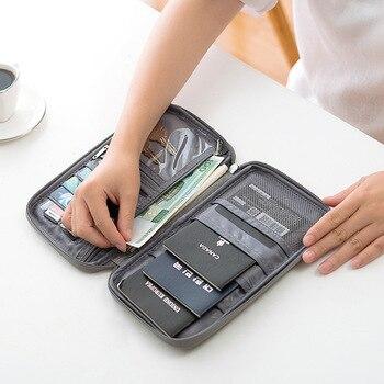 Organizador de viaje para mujeres calientes, paquete de tarjetas de pasaporte, porta tarjetas de crédito, paquete de documentos, nuevo bolso de mano tipo monedero de moda