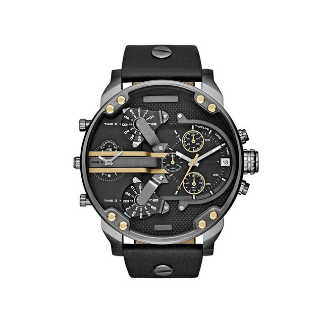 Luxury Quartz Alloy Strap Big Dial Watches for Men