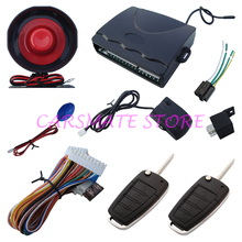 Universal Car Alarm Security System With Flip Key Remote Controls Remote Lock Unlock Trunk Release for