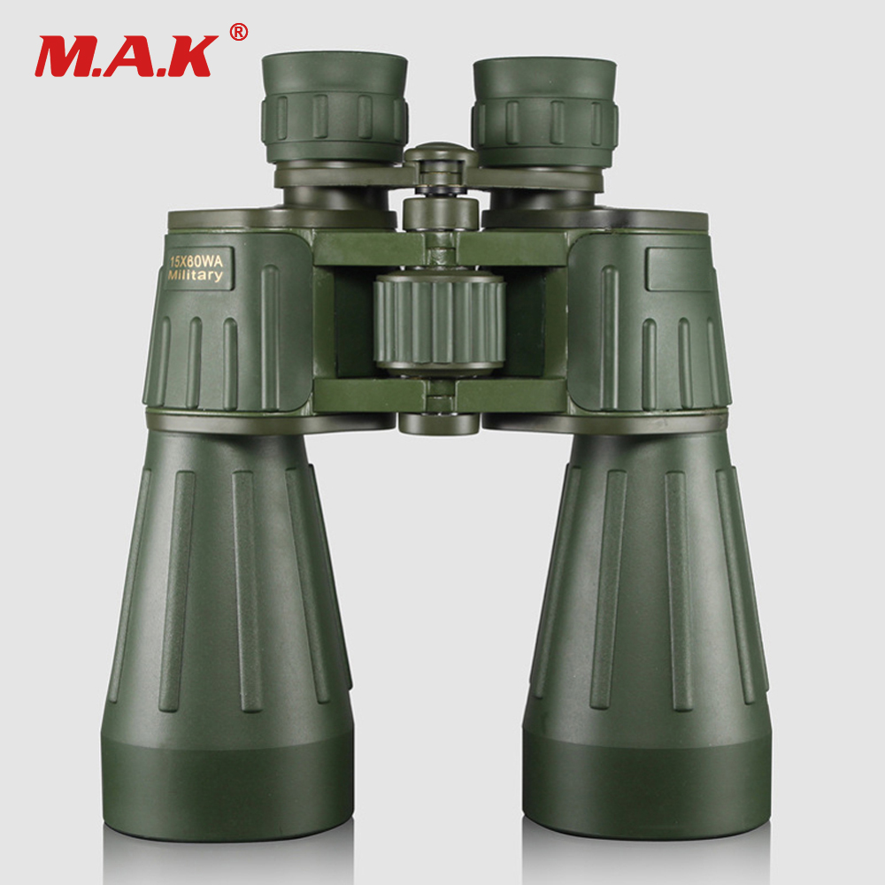 New 15x60 Military Army Green High-Definition HD Eyepieces Outdoor Camping Glasses with Rubber Sheath for Hunting Watching