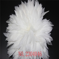 Wholesale beautiful bleached white cock feathers white permanent 5 8 inch 900 1000 DIY DIY feather accessories