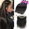 Brazillian Straight Hair With Closure 360 Lace Frontal With Bundle Straight Ear To Ear Pre Plucked 360 Frontal With Bundles