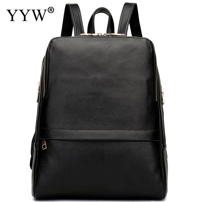 цены Fashion Black PU Leather Backpack Female Red Backpacks for Adolescent Girls Women Blue Casual Korean Style Small School Bag