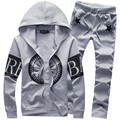 2016 new spring men  suit hoodies sweatshirt tracksuit sportwear set 4 color M 3XL CCL85