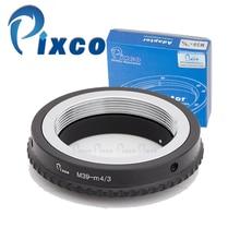 Pixco L/M39 M4/3 adaptateur dobjectif pour objectif Leica M39 adapté pour Micro quatre tiers 4/3 caméra