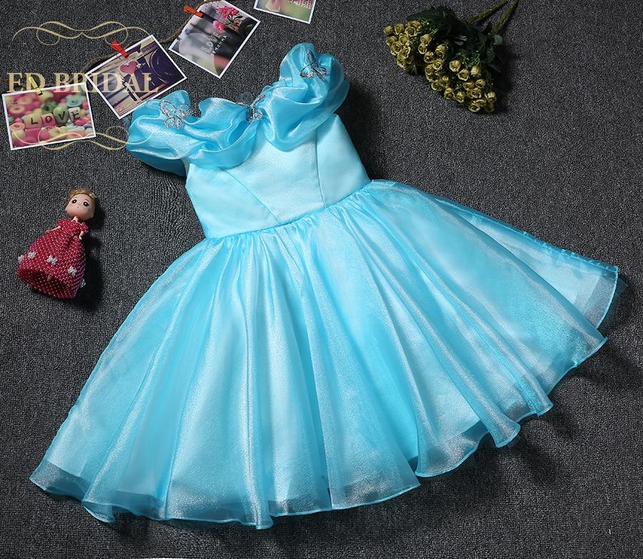 Blue Organza Cinderella Princess Pageant Dresses for Girls Glitz ...