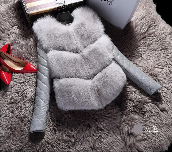 2016 new brand faux fur coat women plus size 8 colours faux fur jacket women warm  faux fur vest women