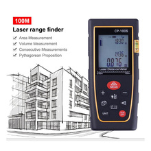 Portable Laser Range Finder 100M Digital With Horizontal Bubble To Build Measuring Equipment