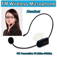 Free Shipping! Wireless FM Condenser Handheld Microphone Headset Megaphone Radio For Speaker