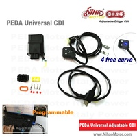 Universal Fit Racing CDI Programable 8Pin DC cdi 4 Maps Adjustable Digital Motorcycle Scooter Ignition Coil Performance parts
