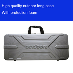 Di alta qualità cassa di Attrezzo lungo pistola causa esterna dei bagagli bagaglio speciale scatola di plastica cassetta degli attrezzi di sicurezza box valigia con rivestimento in schiuma