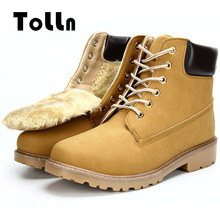 Winter Men Boots Warm Ankle Snow Boots Fashion Plush Lining mou Boots Waterproof Mens boty laarzen steampunk shoes chukka Shoes