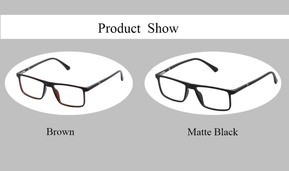 Men 39 s Computer Eyeglasses Blue Light Filter Glasses for Blocking UV Ray Men 39 s rectangular bussiness style w Spring hinge DD1483 in Men 39 s Eyewear Frames from Apparel Accessories
