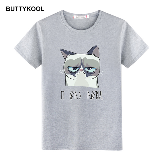 BUTTYKOOL Big Size Men T-shirt Cool Men t shirt Soft Cotton Casual tshirt Funny Cat Printed Dog Mens Tops Tee Clothing