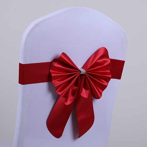 new chair sash bow wedding ribbon bow chair sash for chair cover for