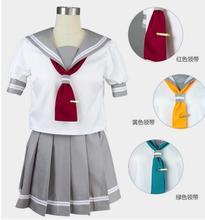 Niza Cosplay CostumesLoveLive! el sol!! Aqours Takami Chika Marinero Uniforme Escolar