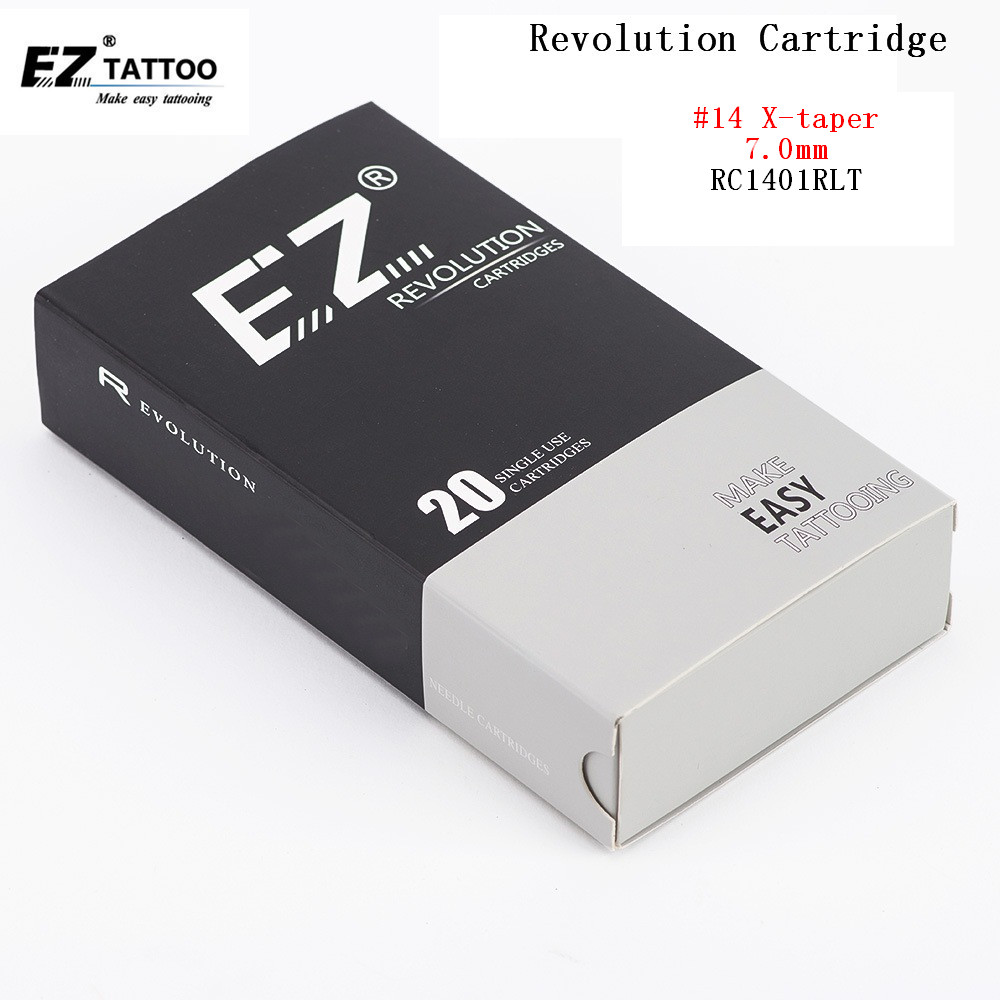 RC1401RL EZ Tattoo Needles Revolution cartridge Round Liner Sterilized #14X-Taper7.0mm for system machine and grips 20 pcs /lot