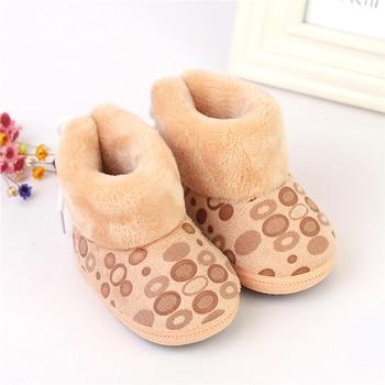 New born Baby Girl Pink Fleece Snow Boots Booties Kids Princess Winter Shoes S1 PY2