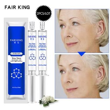 2PCS Tea Tree Hyaluronic Acid Injection Face Serum Liquid Tights Anti-Wrinkle Anti Aging Collagen Facial Essence Moisturizing Face Care Serum