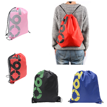 35PCS / LOT Women Drawstring Bag Oxford Waterproof Backpack Drawstring Bag Large Capacity Pouch Travel Sports Cloth Pack