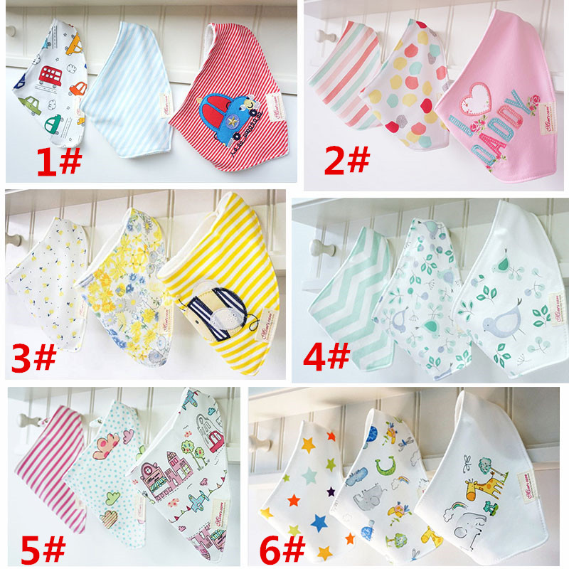 2017 new 3pc/lot 100% cotton bandana bibs baby bibs girls towel bandanas aTRK0001