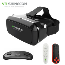 Shinecon VR Google Cardboard Virtual Reality Smartphone 3D Glasses Headset Cardboard Head Mount for 4-6′ Mobile Phone + Remote