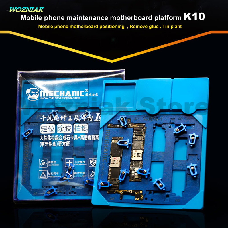 Wozniak Newest High Quality Motherboard Maintenance Fixture Pinpoint Remove Glue Tin Plant Clip Platform for Iphone 6g 6p 6s 6sp wozniak mobile phone maintenance clamp for iphone bga chip motherboard fixture location remove glue tin plant fixed clamp