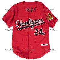 New Baseball Jersey Bruno Mars 24K Hooligans BET Awards Baseball Jersey Stitched Men Throwback Baseball Jerseys