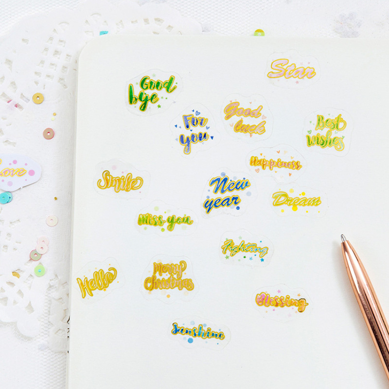100pcs Kawaii English Letters Stationery Sticker Diary Scrapbooking