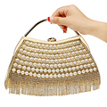 Hot Selling Tassel Rhinestones Women Evening Bags Beaded Lady's Handbags With Handle Diamonds Wedding Bridal Purse Bags