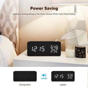 Image 5 - JINSUN LEDนาฬิกาปลุกDespertadorอุณหภูมิความชื้นอิเล็กทรอนิกส์เดสก์ท็อปตารางดิจิตอลนาฬิกา