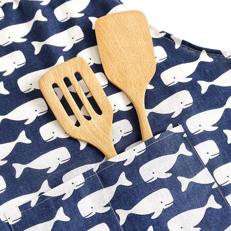 Adjustable Aprons Cotton Linen Kitchen Apron Women  Buffalo Plaid  Restaurant  Sleeveless Vintage Apron Delantal Cocina