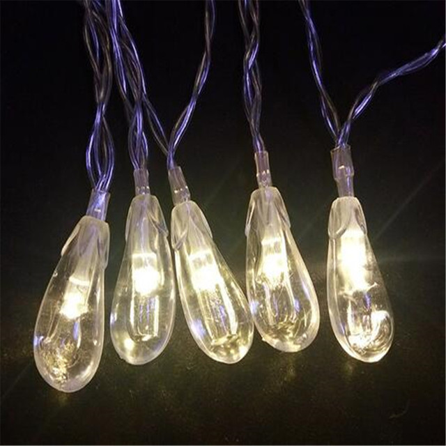 in stock 8m 50 led cute eggplant shaped string lights battery operated christmas led fairy light