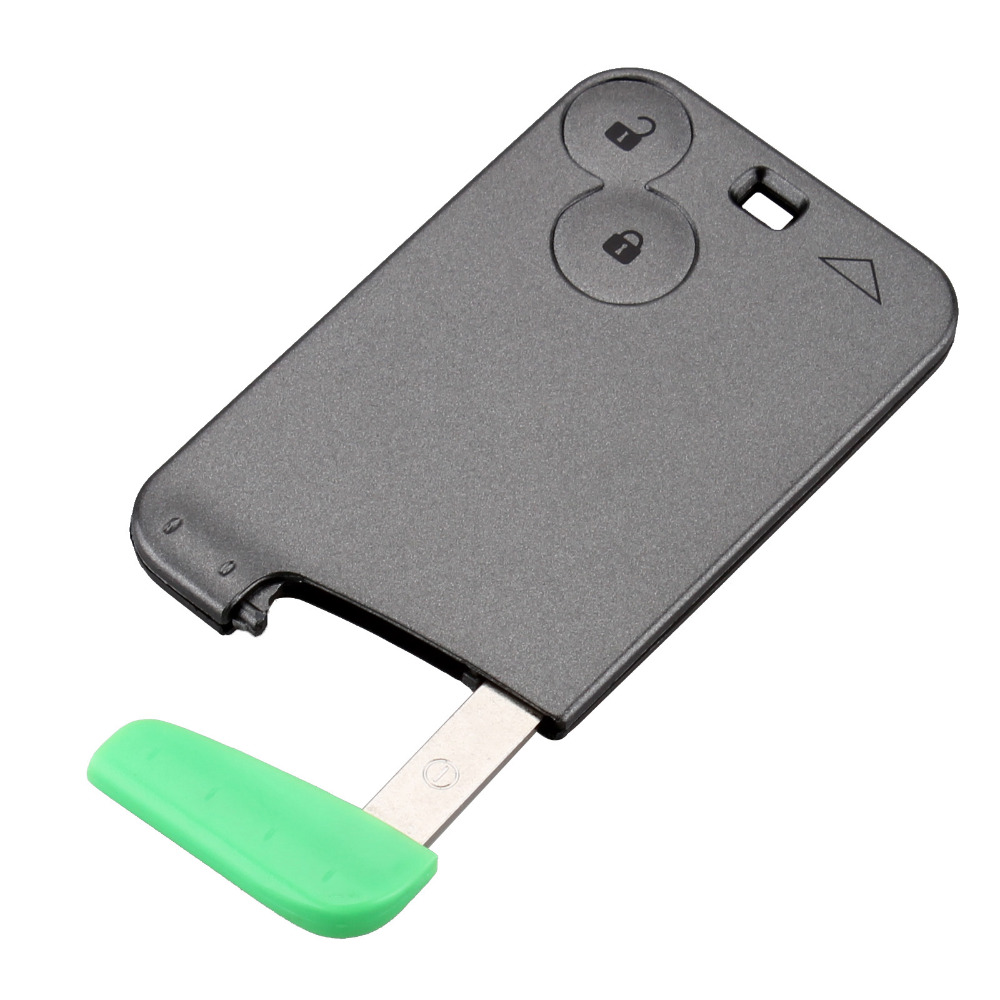 2 Buttons Smart Card With Blade For Renault Laguna Espace Vel-Satis 2002-2006 Car Key Blank Shell Case Cover