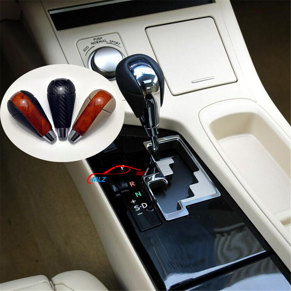 Mahogany Look Carbon Fiber Car Automatic Gear Shift Knob Head Replacement For Lexus IS F 2008