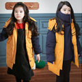 Children's Cotton-padded Jacket 2017 New Girls Big Thicker Korean Long Coat Down Kids New Arrivals Yellow Parka for Boy and Girl