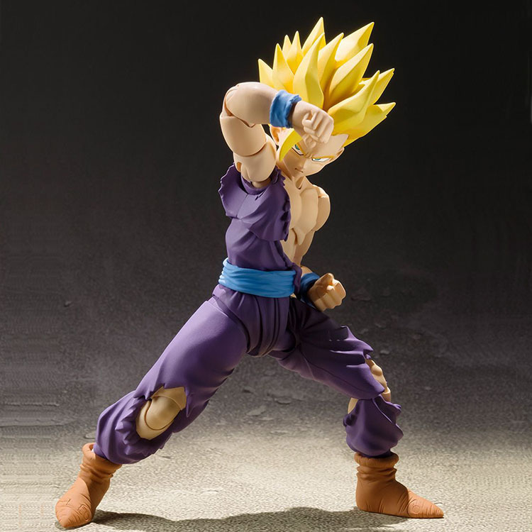 NEW hot 14cm Dragon Ball 2.0 Son Gohan Super Saiyan Action figure toys collection doll Christmas gift with box new hot 23cm the frost archer ashe vayne action figure toys collection doll christmas gift with box