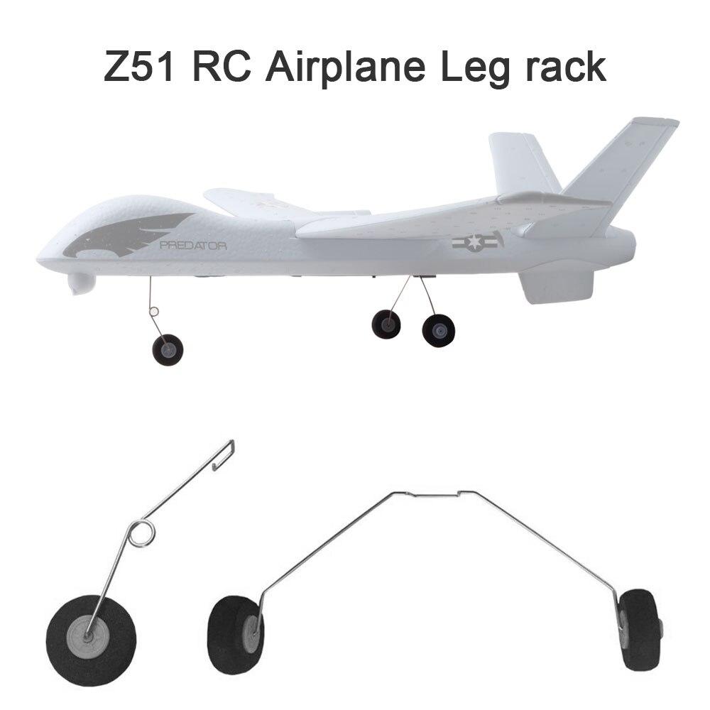 Z51 2 pçs rodas de aterragem rack de perna engrenagens rc avião avião peças acessórios