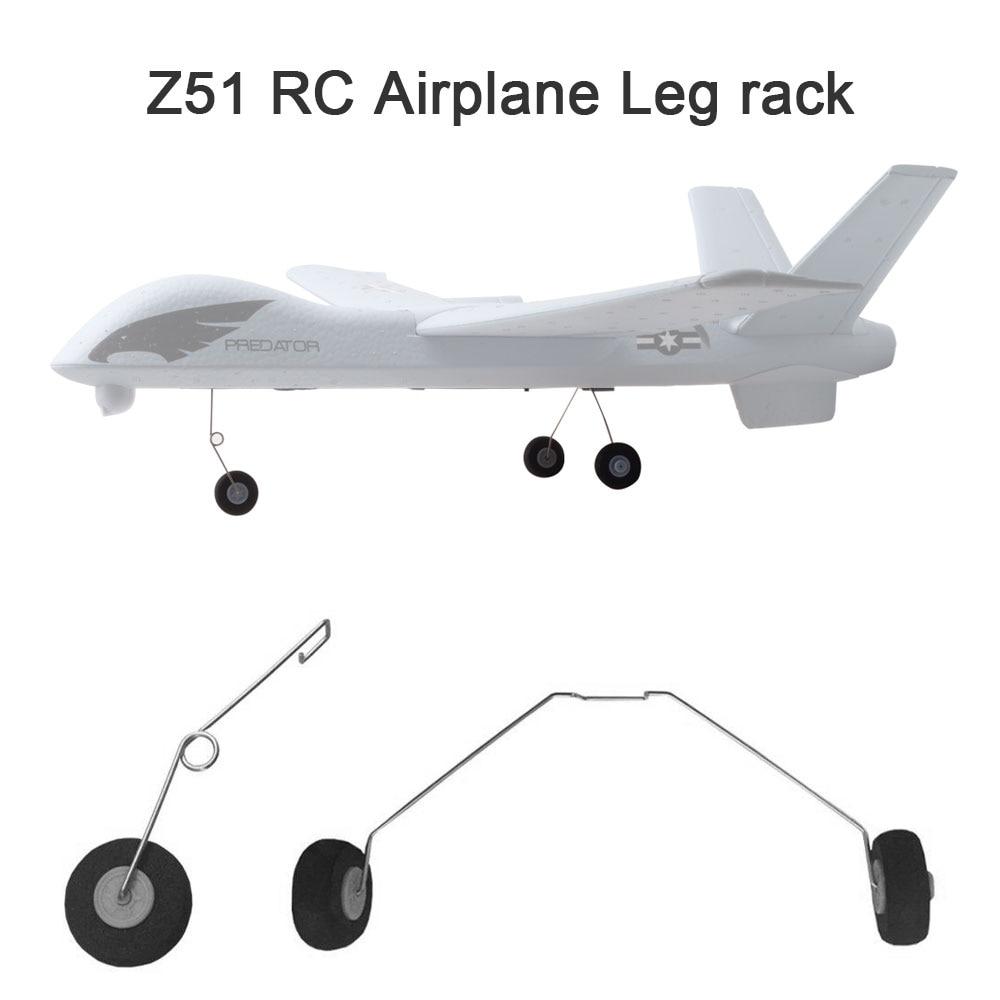 Z51 2Pcs Leg Rack Landing Wheels Gears  RC Airplane Plane Parts Accessories