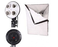 Free Shipping 1 To 4 Socket Head 70 X 70cm Soft Box Photo Video Studio Light